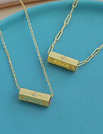 Fashion Gold Color Copper Inlaid Zircon Chain Letter Love Necklace