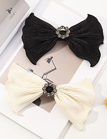 Fashion Black Bow Lace Hairpin With Wood Ears