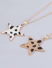 Fashion White Alloy Star Pendant Multilayer Necklace