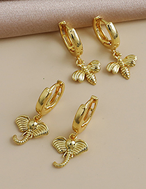 Fashion Golden Copper Insect Ear Studs