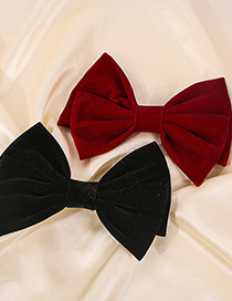 Fashion Red Alloy Fabric Bow Hairpin