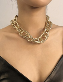 Fashion Golden Alloy Chain Necklace