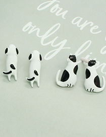 Fashion Cat Earrings Black And White Spotted Cat And Dog Earrings
