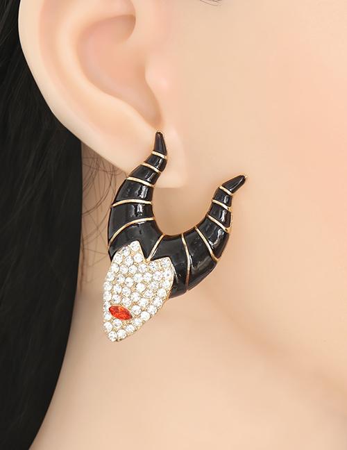 Fashion Gold Halloween Diamond Earrings