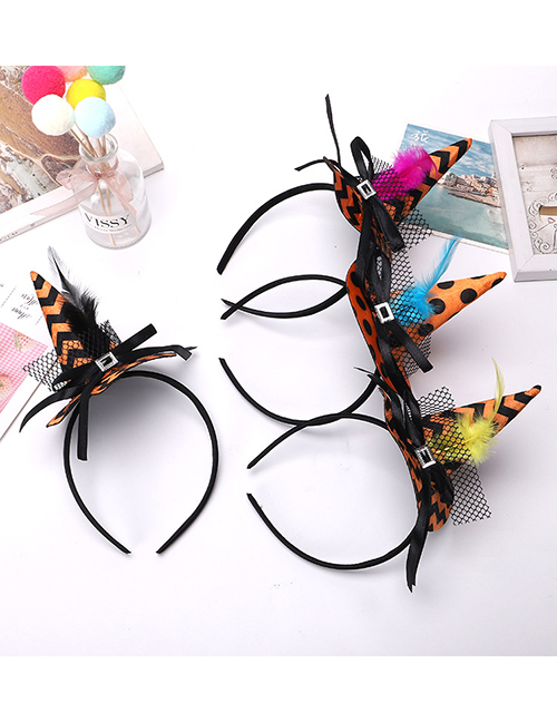 Fashion New Red Feather Halloween Witch Hat Headband