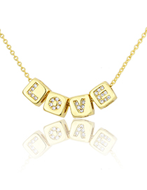 Fashion A Golden Geometry Pendant Accessory With Zircon Letters