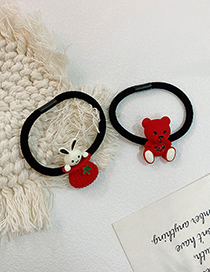 Fashion Rabbit Pocket Resin Bunny Bear High Elastic Hair Rope