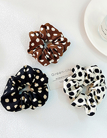 Fashion White Polka Dot Print Large Intestine Circle Hair Rope