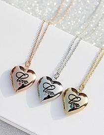Collar Con Letras De Marco Abierto Love