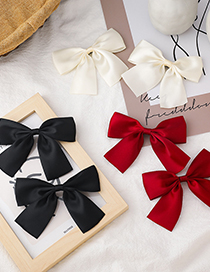 Fashion Red Bowknot Double Alloy Hairpin