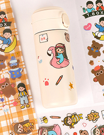 Fashion Moon Boy Self-adhesive Waterproof Cup Sticker Hand Account Material Sticker