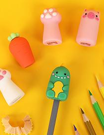 Fashion Cat Paw Pink Manual Sketch Childrens Pencil Sharpener