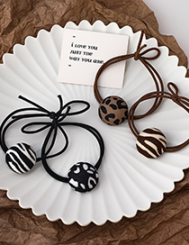 Fashion White (leopard Print) Leopard Print Knotted Round Hair Rope