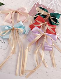 Fashion Purple Ribbon Bow Hairpin