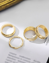 Fashion 6th Floor Glossy Irregular Geometric Concave-convex Rings Without Pierced