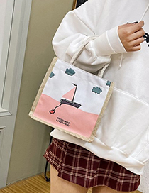 Fashion Child Cotton And Linen Pattern Printed Shoulder Bag