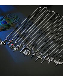 Fashion Pterodactyl Angel Skull Cross Wings Necklace