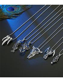 Collar De Metal De Araña Esqueleto De Espina De Pescado