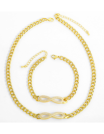 Fashion Necklace Figure 8 Infinity Symbol Simple Necklace