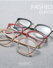 Fashion C2-2 Khaki/transparent Ultra-light Can Be Equipped With Myopia Round Frame