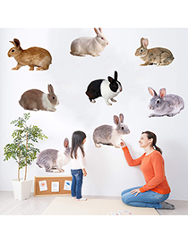Fashion Ksr-17a A Variety Of Shapes Rabbit Wall Stickers