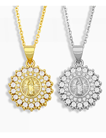 Fashion Golden Virgin Necklace With Diamonds