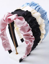 Fashion Blue Fabric Pleated Headband