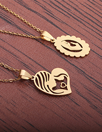 Fashion Gold Color Stainless Steel Virgin Mary Love Necklace