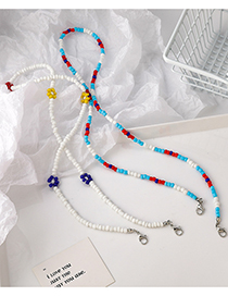 Fashion Color Beaded Flower Color Glasses Chain