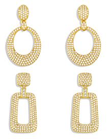 Fashion A Geometric Hoop Earrings
