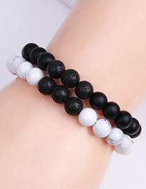 Fashion 8mm Bright Stone Mom Letter Frosted Stone Mom Beaded Bracelet