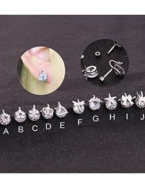 Fashion Type A Butterfly Zircon Stainless Steel Earrings