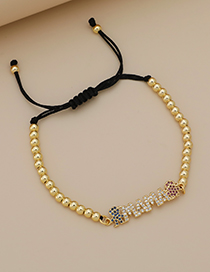 Fashion Golden Copper Inlaid Zircon Letters Mama Boy And Girl Love Bracelet