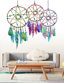 Fashion 30*60cmx2 Pieces Into The Bag Wind Chimes Wall Stickers