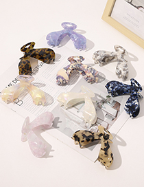 Fashion Slender Butterfly Acetate Hairpin-beige Acetate Plate Pan Hair Whale Tail Catch Clip