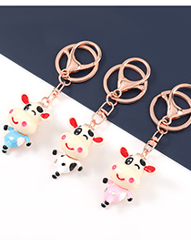 Fashion Blue Alloy Resin Cow Pendant