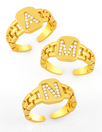 Fashion A English Alphabet With Letter Open Ring