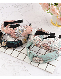 Fashion Pink Knotted Floral Flower Headband In The Middle