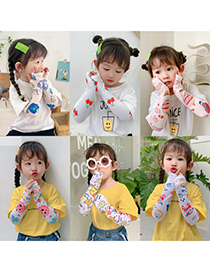 Fashion Spotted Cat Children's Cartoon Ultra-thin Ice Sleeves