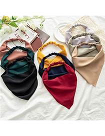 Fashion Solid Color Khaki Pure Color Chiffon Triangle Scarf Headband