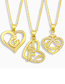 Fashion C Love English Letter Mom Necklace