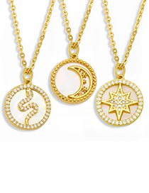 Fashion Snake Moon Star Necklace