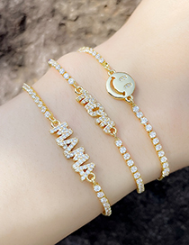 Fashion A Letter Adjustable Bracelet Mama