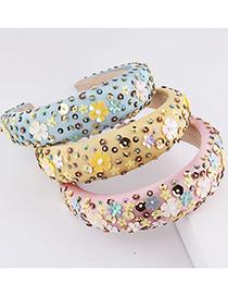 Fashion Pink Sponge Particles Flower Headband