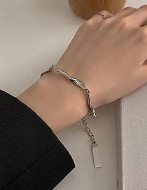 Fashion Silver Color Chain Geometry Bracelet