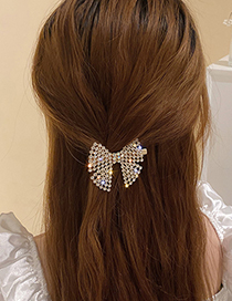 Fashion Butterfly Hairpin Full Rhinestone Bow Hairpin