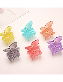 Fashion Pink Butterfly Jelly Color Hair Scratch
