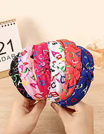 Fashion White Fabric Letter Knotted Headband