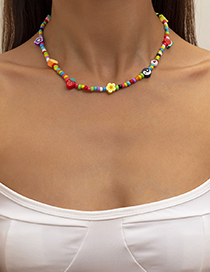 Fashion Color Flower And Fruit Rice Bead Necklace