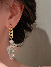 Fashion Gold Color Love Chain Earrings